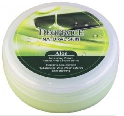 Крем для лица и тела с алоэ DEOPROCE Natural skin aloe nourishing cream 100г: фото