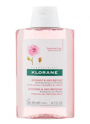 Шампунь с экстрактом Пиона успокаивающий Klorane Soothing and Anti-Irritant with peony 200 мл: фото