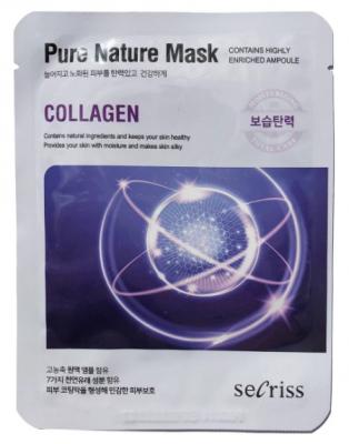 Маска тканевая с коллагеном Anskin Secriss Pure Nature Mask Pack Collagen 25мл: фото