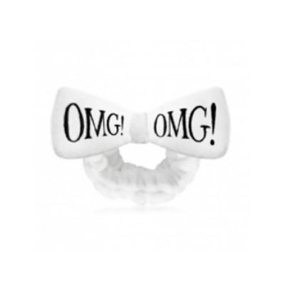 Бант-повязка для фиксации волос во время косметических процедур Double Dare OMG! белый: фото