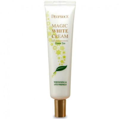Крем для лица осветляющий антивозрастной с зеленым чаем DEOPROCE MAGIC WHITE CREAM GREENTEA 40мл: фото