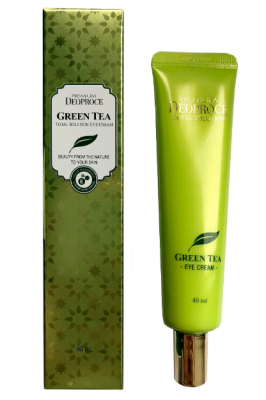 Крем для век увлажняющий с экстрактом зеленого чая DEOPROCE PREMIUM GREENTEA TOTAL SOLUTION EYE CREAM 40мл: фото