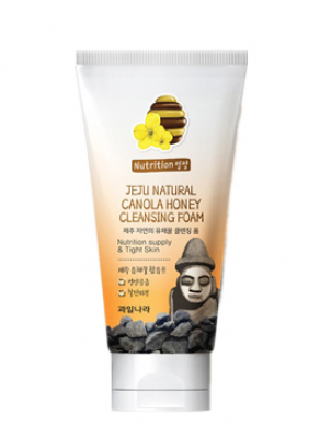 Пенка для умывания Welcos Jeju Natural Canola Honey Cleansing Foam 120г: фото