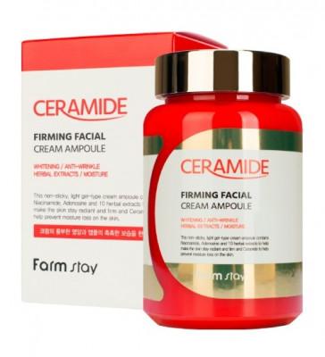 Крем-гель ампульный укрепляющий с керамидами FarmStay CERAMIDE FIRMING FACIAL CREAM AMPOULE 250мл: фото