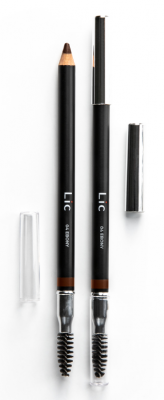Карандаш пудровый для бровей Lic Eyebrow pencil 04 Ebony: фото