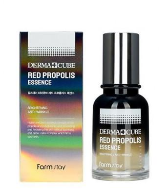 Питательная эссенция с прополисом и гибискусом FARMSTAY Derma Cube Red Propolis Essence 70мл: фото