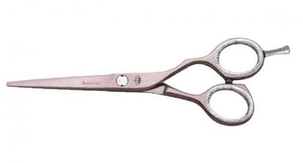 Ножницы прямые розовые Jaguar Silver Line Princess Amira 5.5″ + кисточка,зеркало: фото